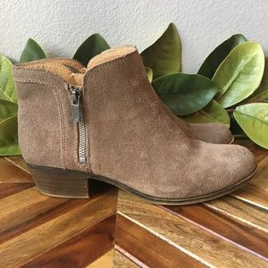 Lucky Brand Breah Suede Ankle Booties